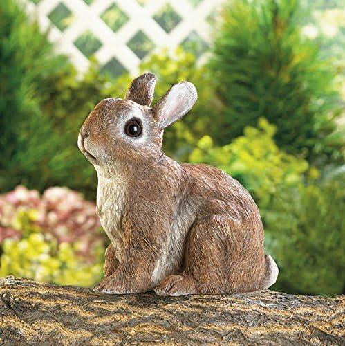 Garden Decor Adorable Sitting Bunny Outdoor Garden Statue