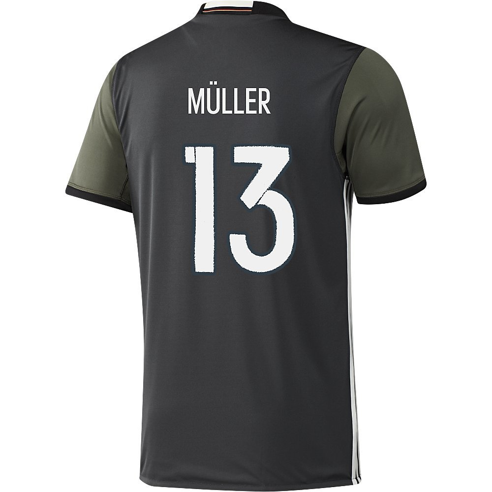 Adidas MULLER #13 Germany Away Soccer Jersey Euro 2016(Authentic name and number of player)/サッカーユニフォーム ドイツ アウェイ用 ミュラー 背番号13 Euro 2016 B01A61ZBD8  X-Large