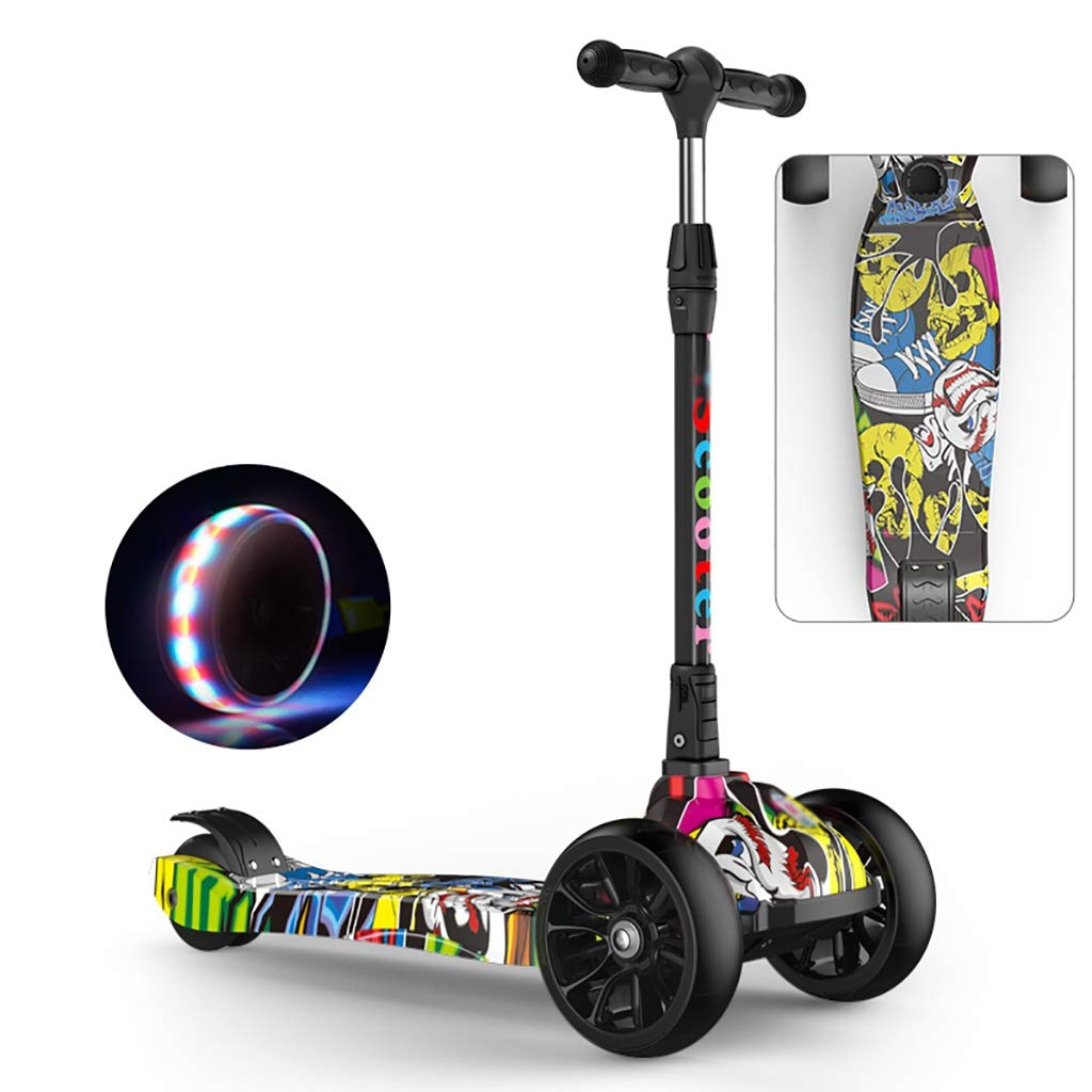 WYQ Scooter Freestyle, Patinete 4 Ruedas Niño Plegable ...