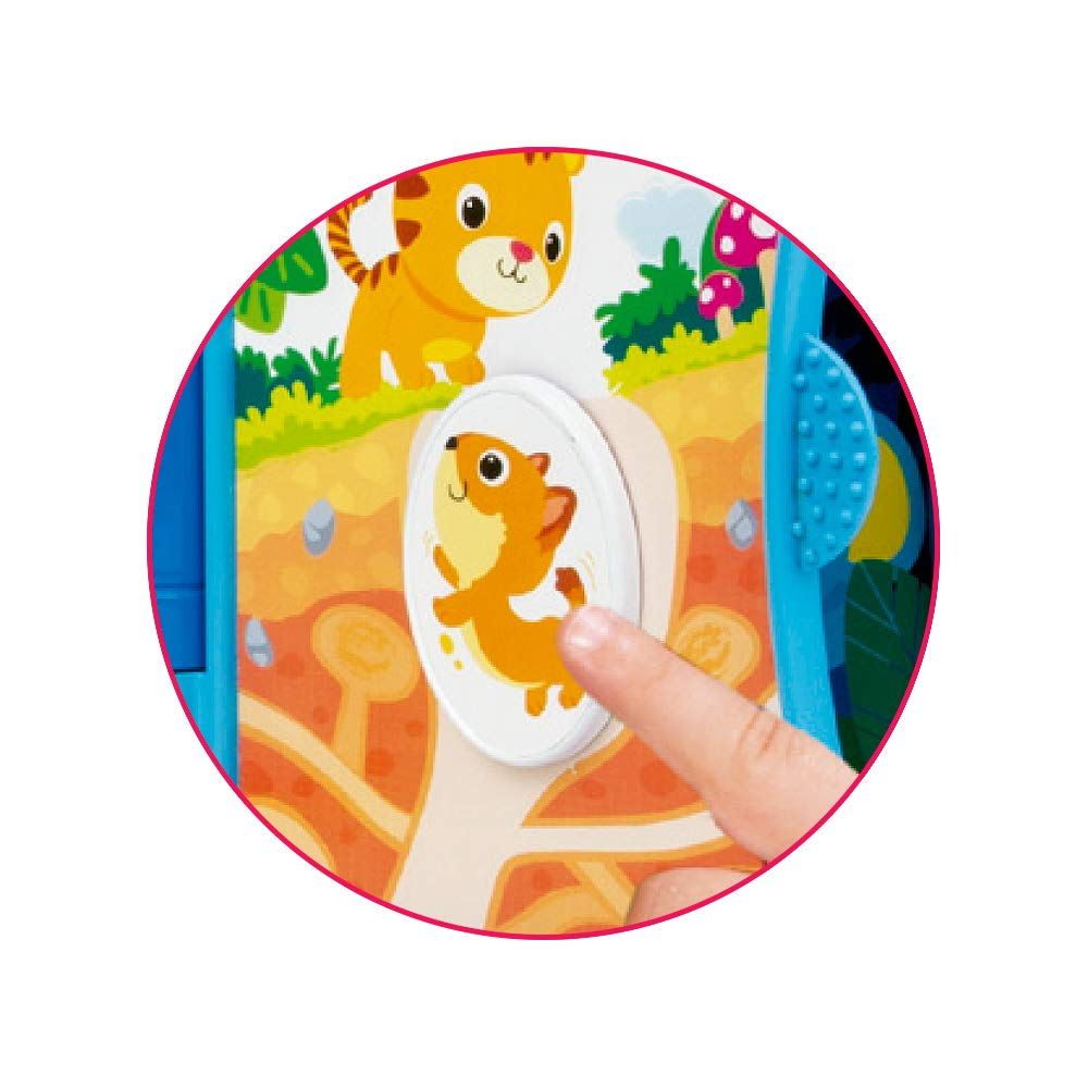 winfun Libro sensorial blandito Luces y Sonidos /'Animales de la Selva/' ColorBaby 46309