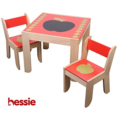 Amazon.com: Hessie Little Toddler Kids Activity Play Table Chair Set ...