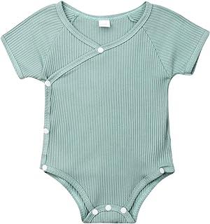 Amazon.com: Body de manga corta de algodón para bebé o niña ...