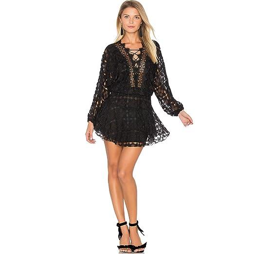 ce50c17fef Karina Grimaldi Womens Cicci Lace Mini Dress Black Medium at Amazon ...