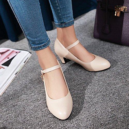 MissSaSa Damen high heel Ankle-strap Pointed toe Pumps Beige