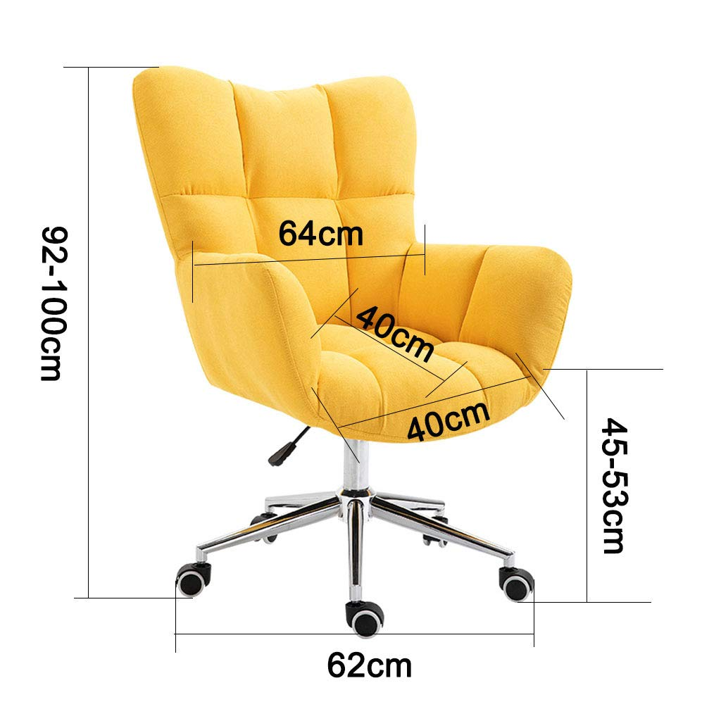 Svängbar stol soffa verkställande kontorsstol hem dator stol med mjuk flanell och svamp ergonomisk design elegant sovrum möbler 150 kg kapacitet Grey Grid
