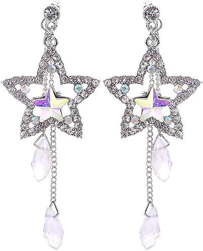 Nueva. Un par de pequeños diamantes de imitación//Diamante Chapado en Oro Pendientes del corazón