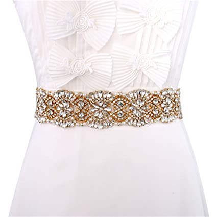 Image Unavailable. Image not available for. Color  XINFANGXIU Wedding  Bridal Sash Crystal Belt Rhinestone Applique ... 110839844f7f