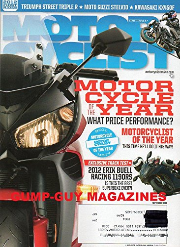 Motorcyclist Magazine September 2011 (Single Issue) Motor Cycle Of The Year