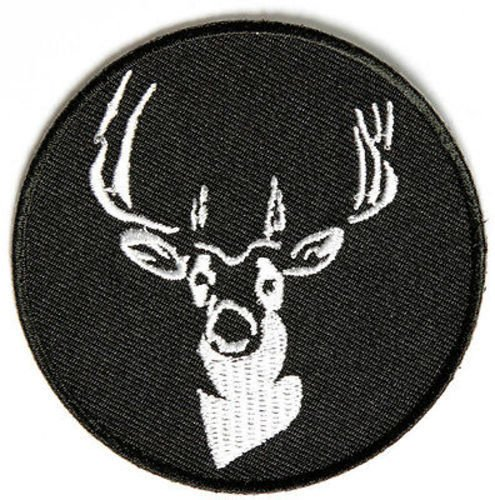 Round Deer Hunting Gun NRA Embroidered Buck