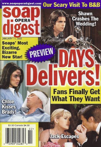 Jason Cook, Melissa Reeves, Matthew Ashford, Nadia Bjorlin, Days of Our Lives, 9 Daytime Fools for Love - January 11, 2005 Soap Opera Digest Magazine