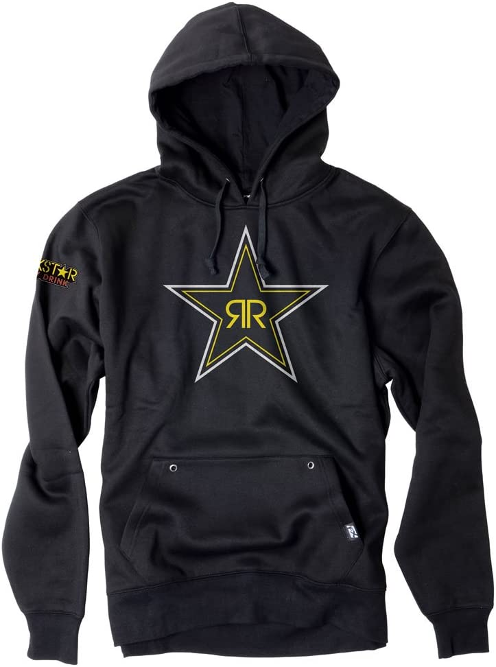 Factory Effex Unisex-Adult Rockstar Blackstar Hooded Sweatshirt Black X-Large