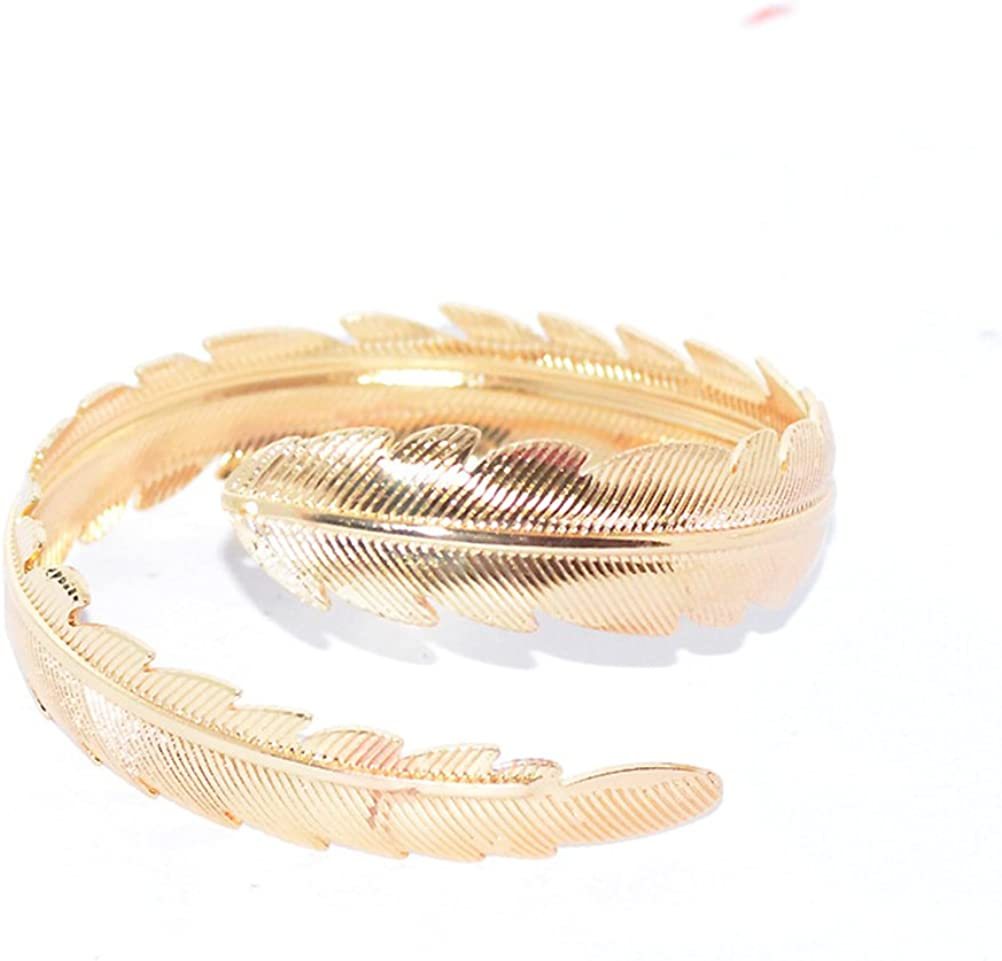Tinksky 2/St/ück Swirl Leaf Feather oberen Armband Armband Armreif Armlet Armband Armband Einstellbar Gold und Silber