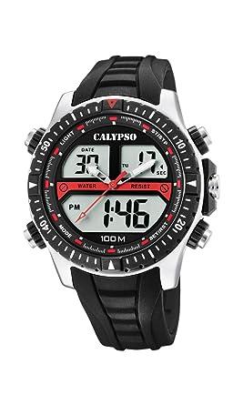 Calypso Watches Reloj Analógico-Digital para Hombre de Cuarzo con Correa en Plástico K5773/4: Amazon.es: Relojes