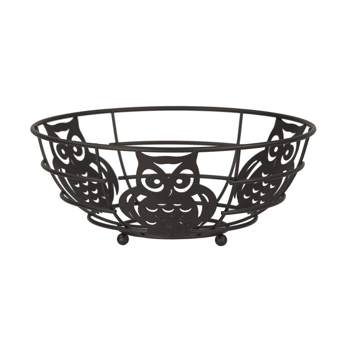 "Home Basics FB44122 Owl Fruit Bowl, 11"" x 11"" x 4.75"""