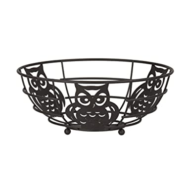 Home Basics FB44122 Owl Fruit Bowl, 11  x 11  x 4.75