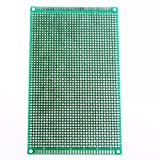 UXOXAS 9 x 15cm Double-Sided Glass Fiber Prototyping PCB Universal Breadboard(2 pcs)