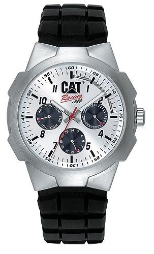 Caterpillar RACING CA0893 - Reloj analógico de caballero de cuarzo con correa de goma negra: Amazon.es: Relojes
