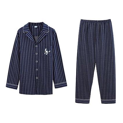 529d11edb6bd TOALLA Hombres y Mujeres Pijamas Adultos Camisa de solapa Raya ...