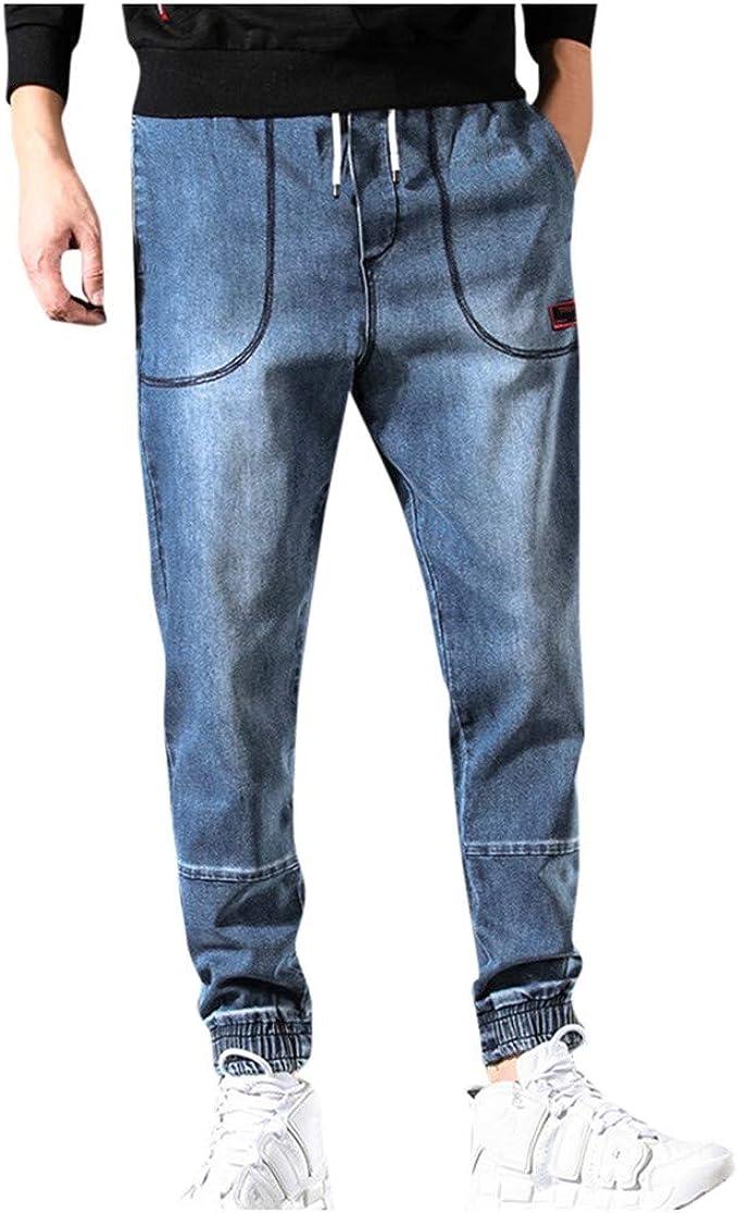 JiaMeng-ZI Vaqueros para Hombre Color Sólido Casual Jeans Slim Fit ...