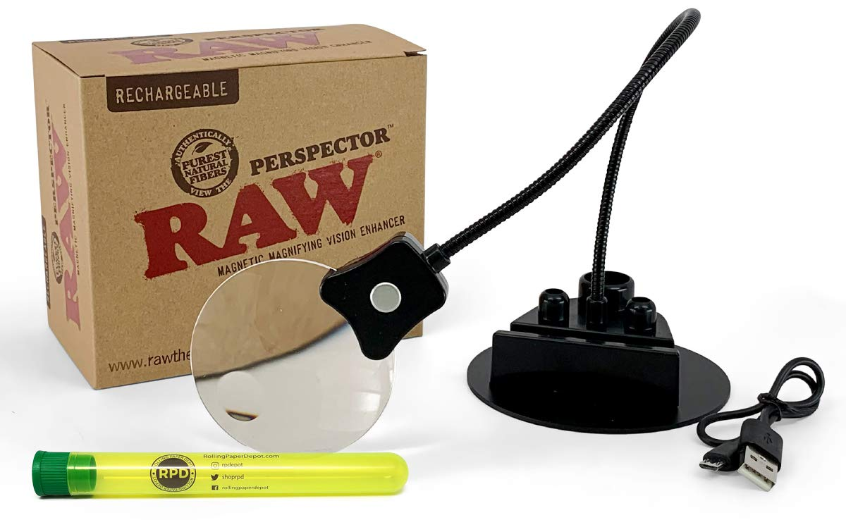 RAW Perspector, with 1 Rolling Paper Depot Kewltube