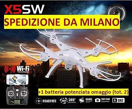 Syma X5SW - Dron cuadricóptero, con WiFi FPV, para IOS y Android ...
