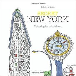 Secret New York Colouring For Mindfulness Amazoncouk Zoe De Las Cases 9780600633655 Books