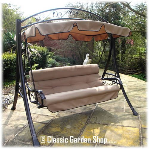 luxury rimini garden hammock swing seat 3 4 seater  amazon co uk  garden  u0026 outdoors luxury rimini garden hammock swing seat 3 4 seater  amazon co uk      rh   amazon co uk
