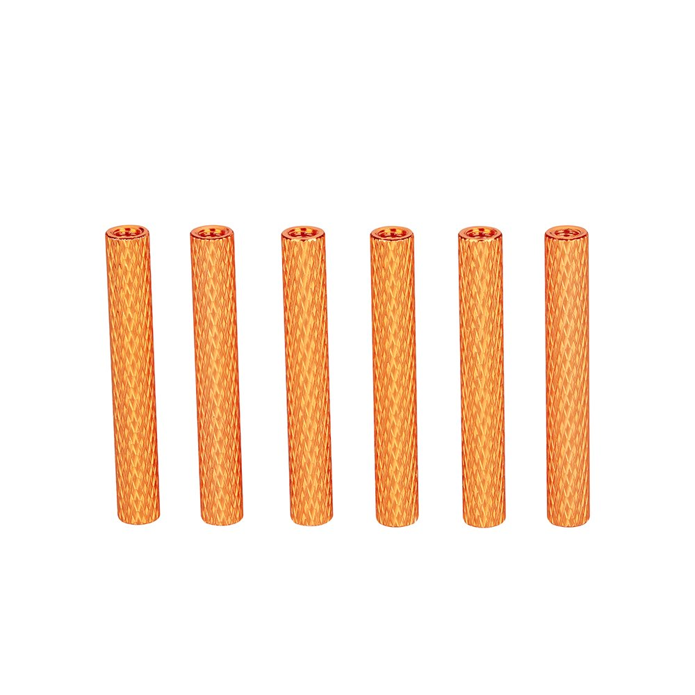 ZSJ Newest M3 Aluminum 25mm Round Knurled Standoff Colorful Round Aluminum Texture Spacer For FPV Frame Multicopter Drone (Orange)