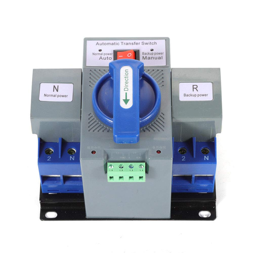 YIWON 110V 2P 63A Dual Power Automatic Transfer Switch Dual Power Generator Changeover Switch 50HZ/60HZ