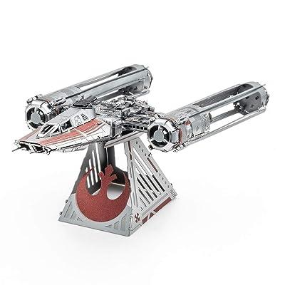 Fascinations Metal Earth Star Wars Rise of Skywalker Zorii's Y-Wing Fighter 3D Metal Model Kit: Toys & Games
