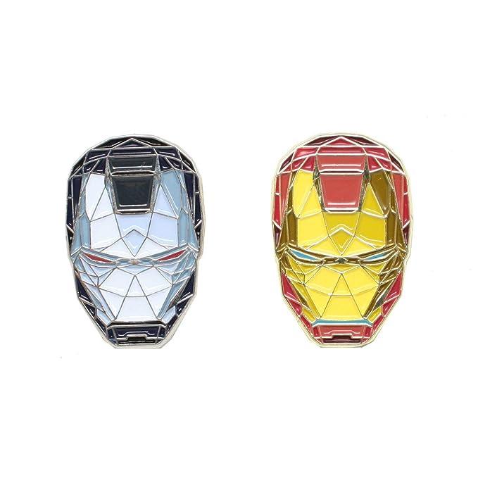 Amazon com: Ironman & War Machine Enamel Pin Set: Clothing