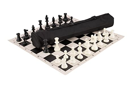 df758c5f60c98 Quiver Chess Set Combination - Triple Weighted - by US Chess Federation  (Black)