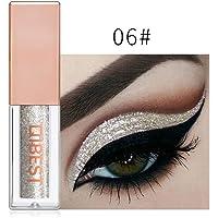 FeiXiang Maquillage Fard à paupières métallisé brillant pour les yeux Eyeliner Liquide Glitter Imperméable 15 Couleur (Or F)