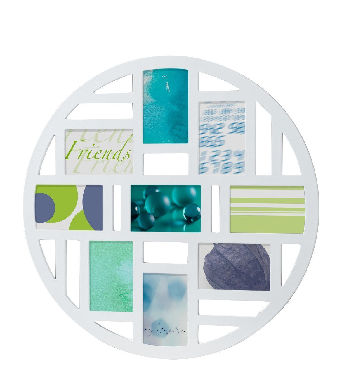 Collage Photo Frame Friends Design 10 x 15 for 9 Photographs / White ...