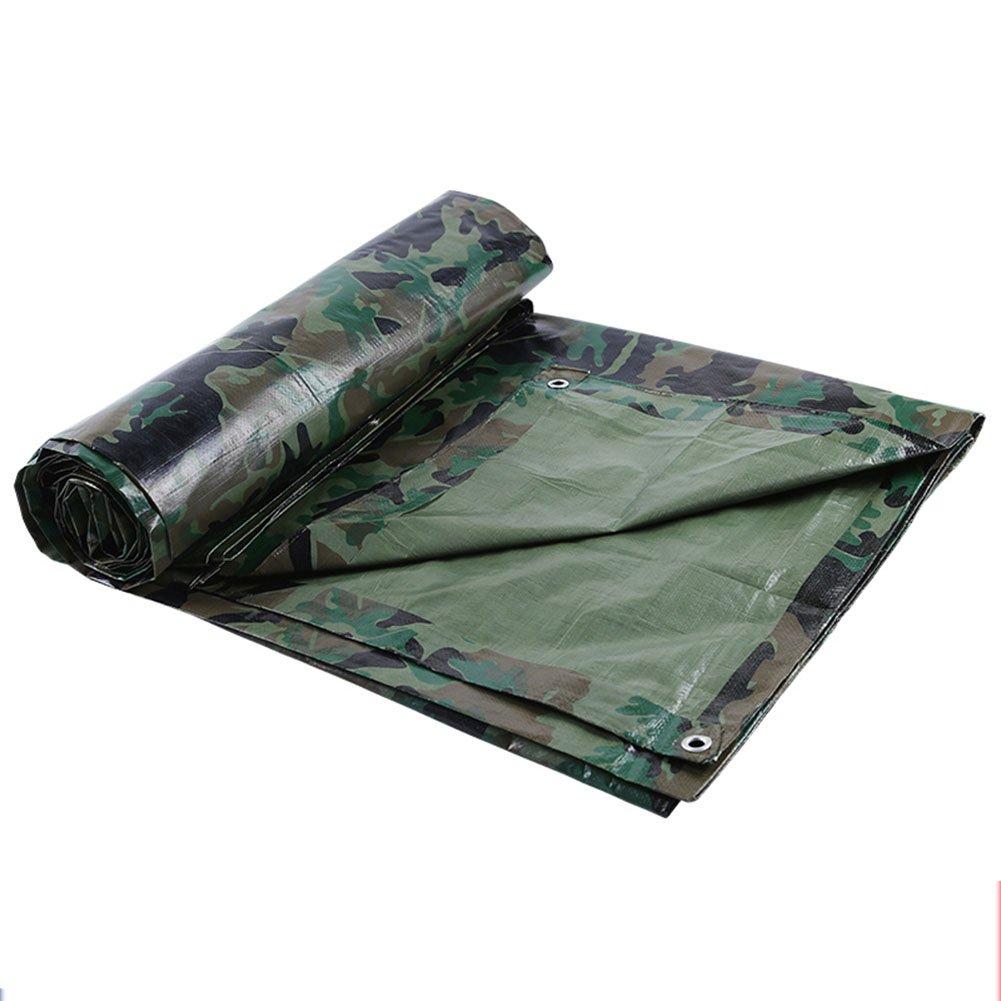 Camo 4×5m AJZGF en Plein air BÂche Tente extérieure Tissu Pliable Double Face étanche Haute température résistant à la poussière PE Camouflage