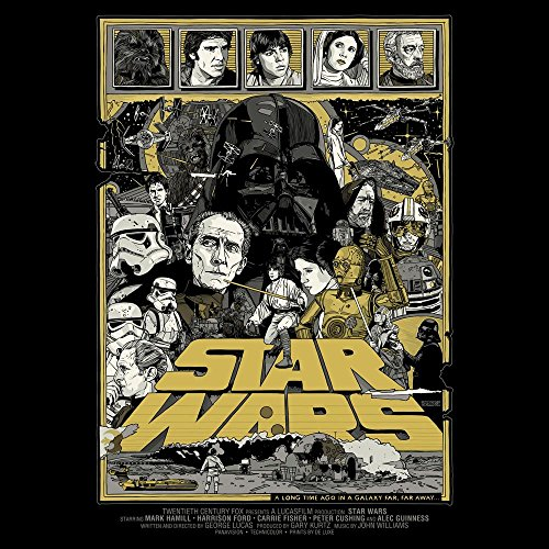 Star Wars Herren Retro T-Shirt - Film Poster