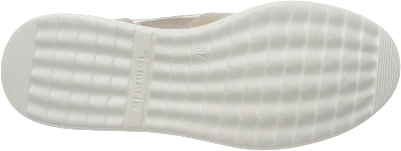 Tamaris 1-1-23625-24, Sneakers Basses Femme Beige Ivory Str Comb 458