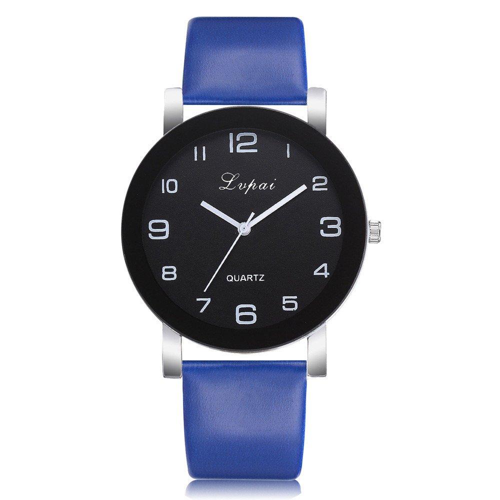 Women Watches Clearance Prime,Women's Casual Quartz Leather Band Watch Analog Wrist Watch,Sports Fan Watches,Dark Blue