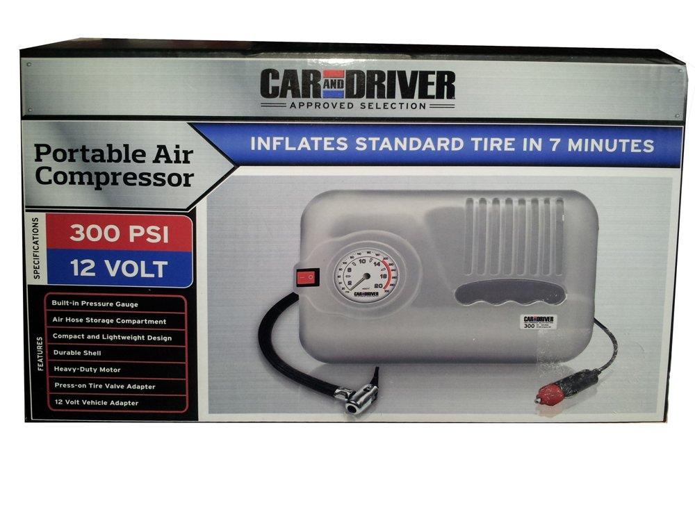 Car and Driver Portable 300 PSI Air Compressor Car & Driver