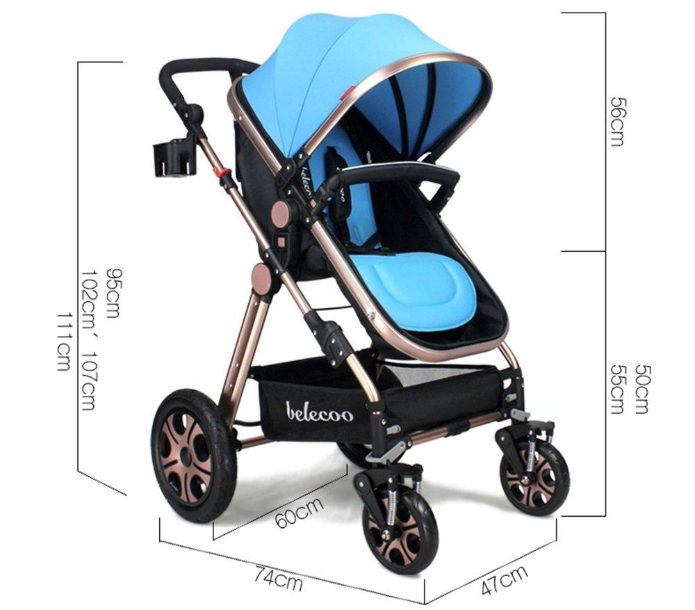 MEI XU Puppenwagen Kinderwagen kann liegender faltender heller tragbarer Landschaftsschock sitzen Kinderwagen (Farbe : 5#) 2#