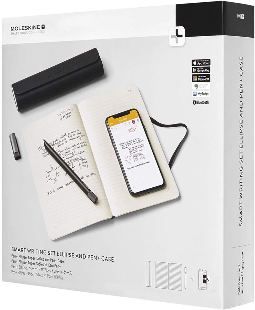 Moleskine Smart Writing Set Ellipse Notebook Pen Ellipse Smartpen And Pen Case Notebook With Black Hard Cover Suitable To Use With Pen Moleskine Black Color Ruled Sheets