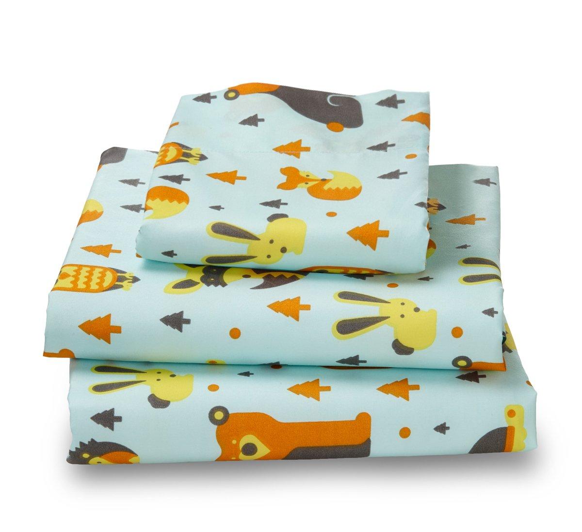 Full Sheet Set Woodland Print for Kids Bedding