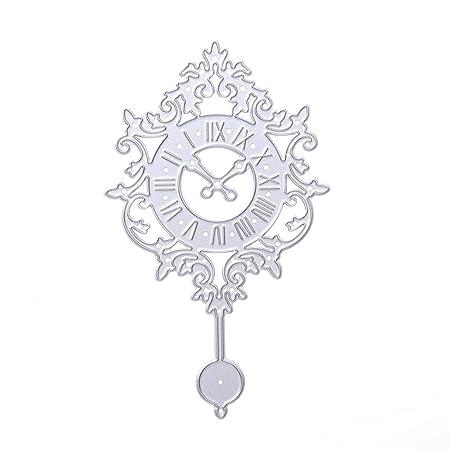 Amazingdeal365 Clock Cutting Dies Stencil Frame DIY Decoration ...