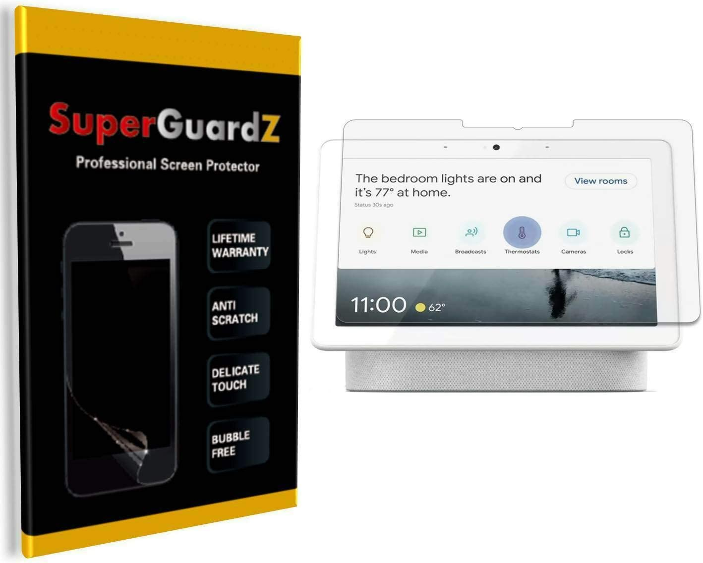 [3-Pack] for Google Nest Hub Max Screen Protector - SuperGuardZ, Ultra Clear, Anti-Scratch, Anti-Bubble [Lifetime Replacement]