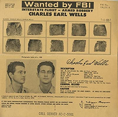 Wanted Notice - Charles Earl Wells - Armed Robbery - Kentucky - 1959