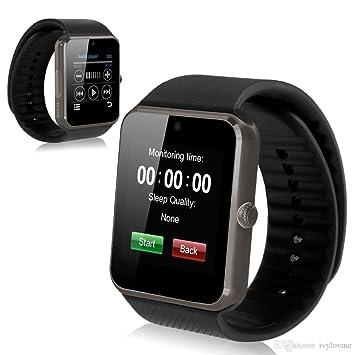 DROMATEC® SW08 Smartwatch Reloj conectado GSM 2G bluetooth SMS Notificación de llamada facebook tweeter whatsapp wechat viber messenger Compatible con ...