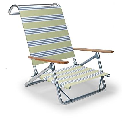 Telescope Casual Original Mini Sun Chaise Folding Beach Arm Chair, Limelight
