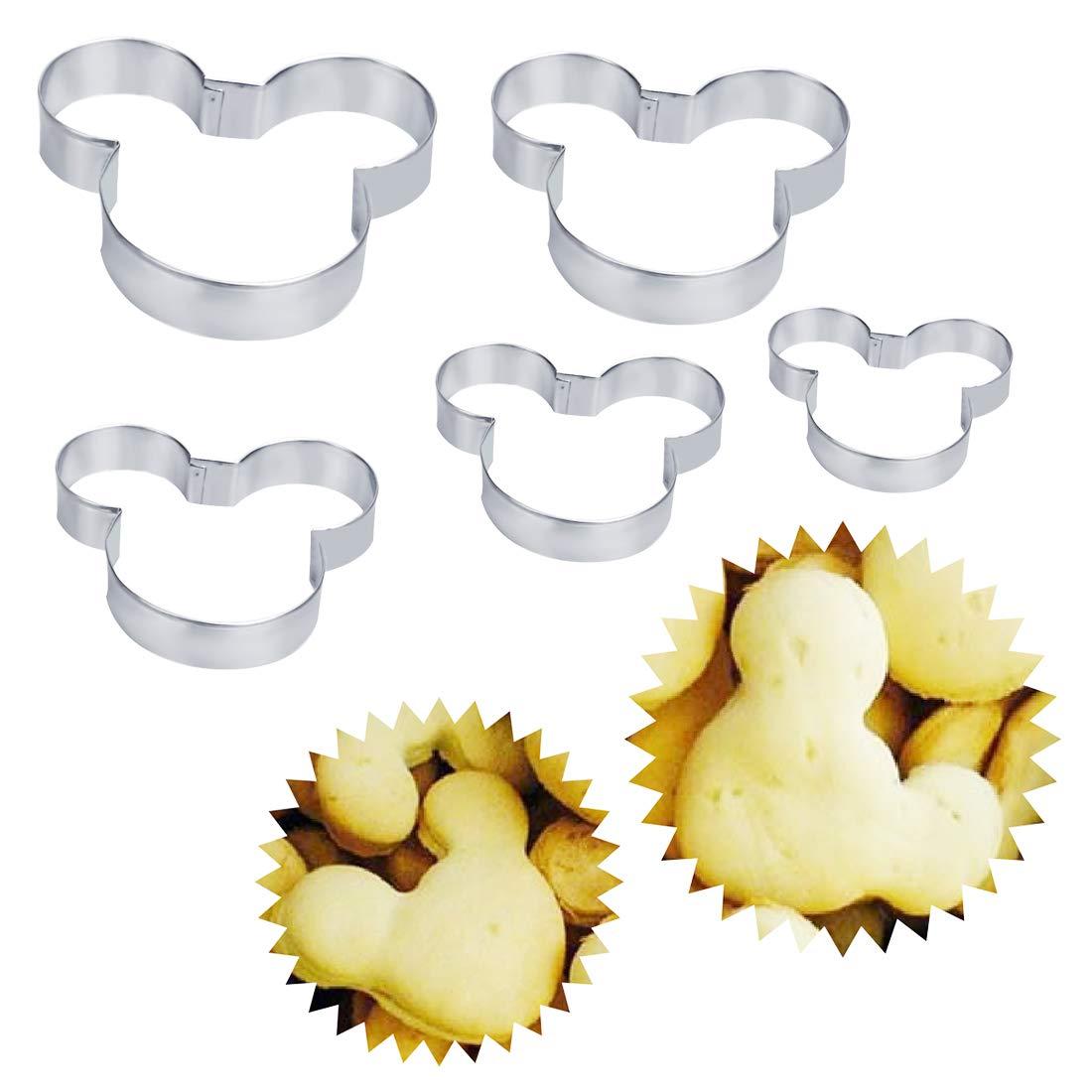 5pcs/Pack 3D Pastel Galletas cortadores Chocolate Galleta Lindo ratón Forma hortalizas Fruta Metal Molde Herramientas para Hornear: Amazon.es: Hogar