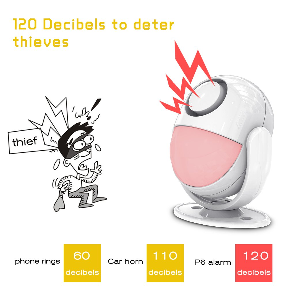 Home Security Alarm,Wireless Infrared Motion Sensor With Remote Control key. All-in One Burglar Alarm System,Visitor Guest Entry Doorbell Chime with Remote LED Indicators Easy to Install Great for Bu by KERUI (Image #6)