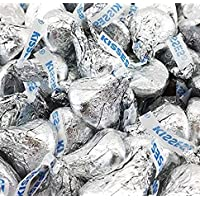 Hershey's Kisses, Milk Chocolate in Silver Foil (Pack of 6 Pounds)